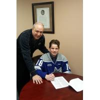 Jack Thompson signs with the Sudbury Wolves