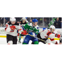Binghamton Devils battle the Utica Comets